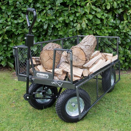 The Handy Large Garden Trolley carrying Logs